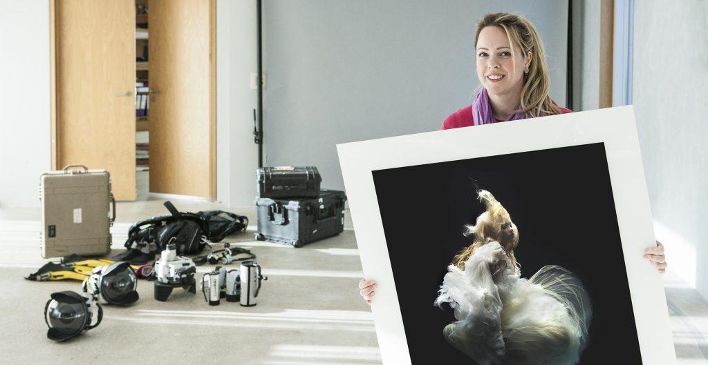Underwater photography artist, Zena Holloway in her studio.