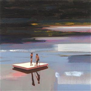 Night Swim Paintings of people in water