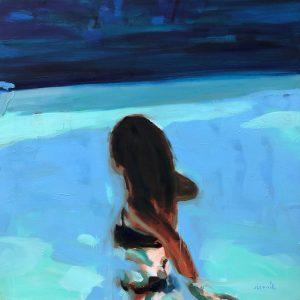 NIght-swim paintings of people in water