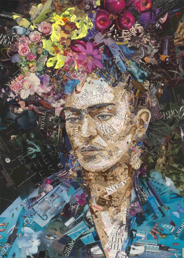 collage of Frida Kahlo