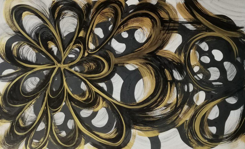 Golden Hour VII abstract art