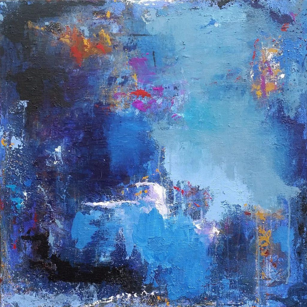"""Night Ride"" contemporary abstract art"