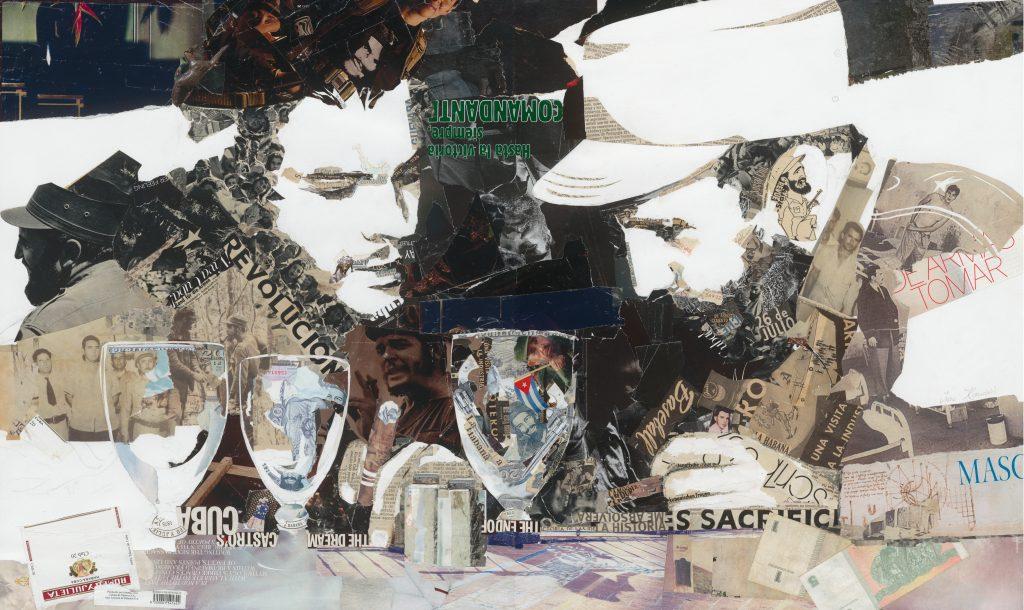 collage of Fidel Castro