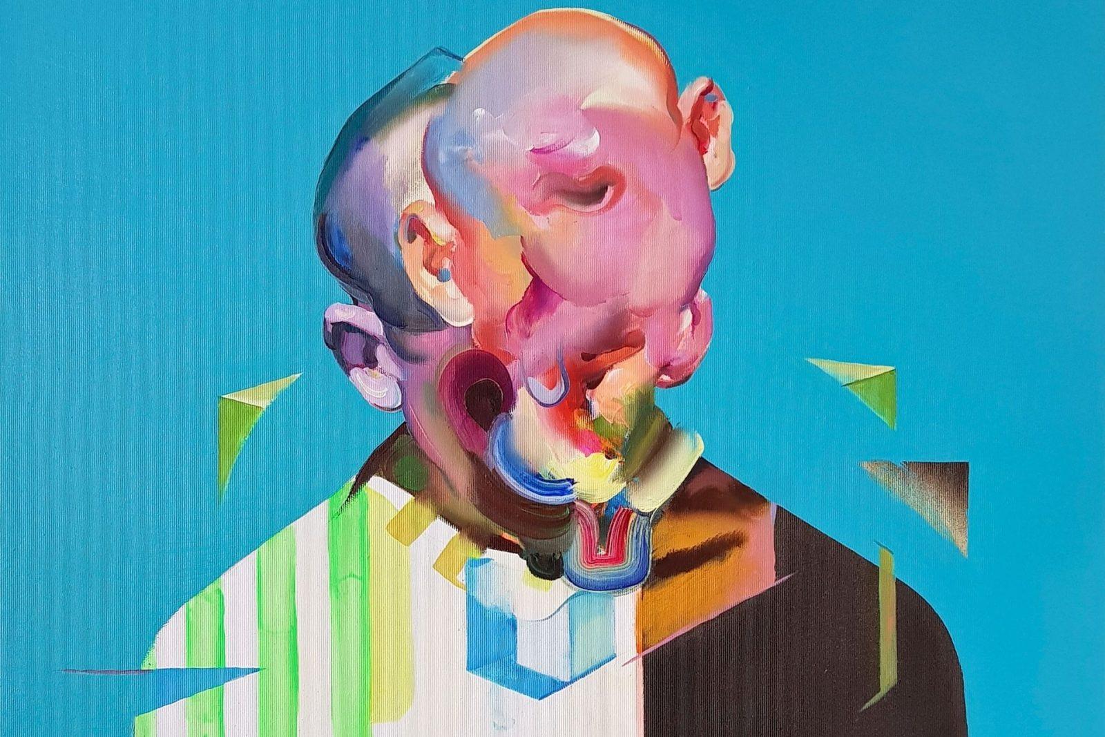 melting face art by Maxim Fomenko