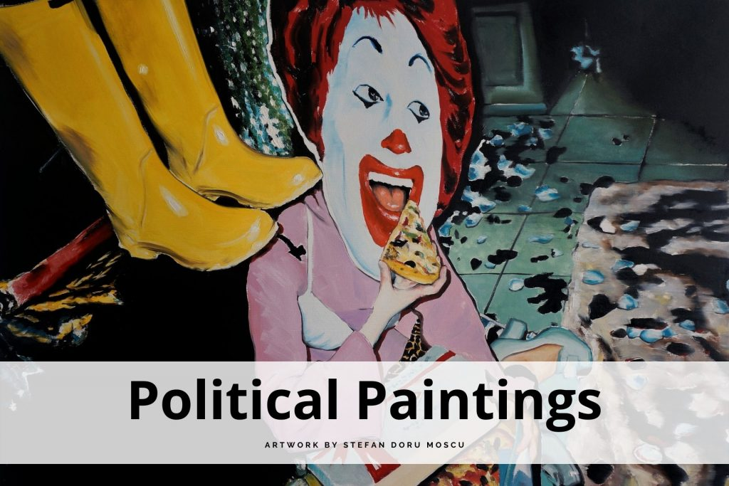 political paintings by Stefan Doru Moscu