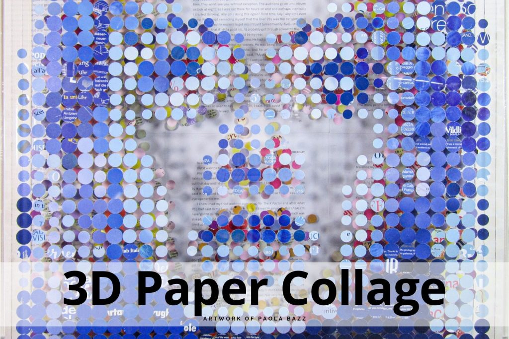 3d paper collage