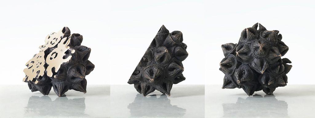 Bronze Triptych - Nature Inspired Art