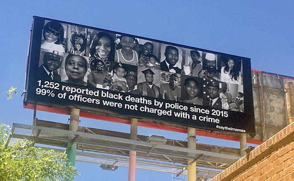 Black Lives Matter billboard