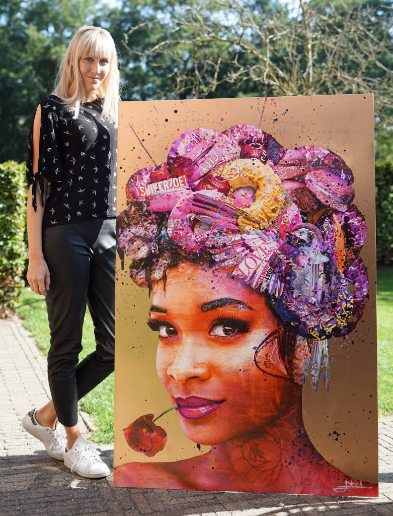 collage painting artist