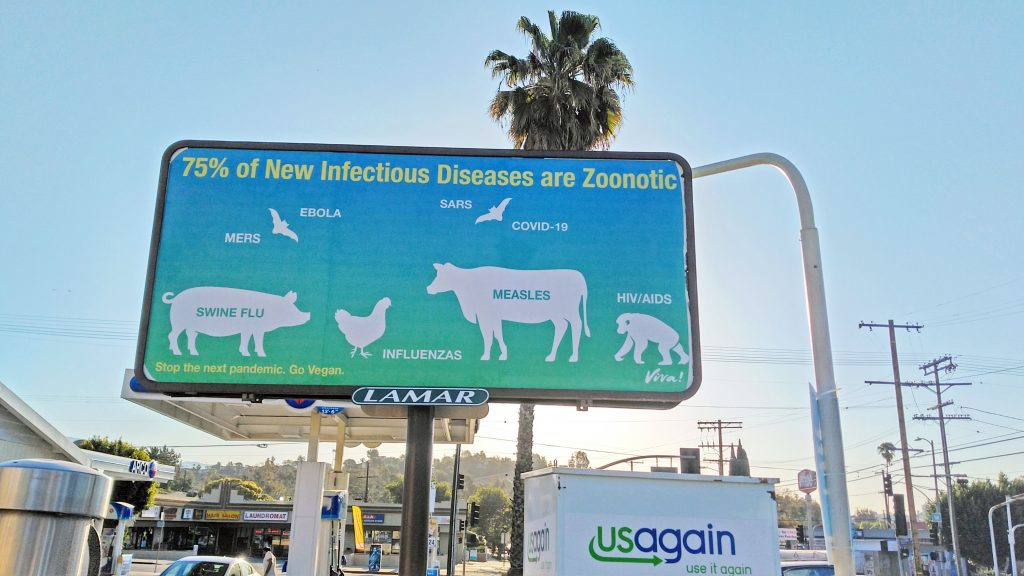 activist vegan billboard