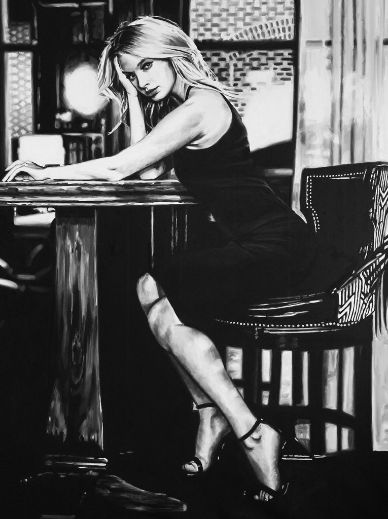Black and White Figurative Paintings