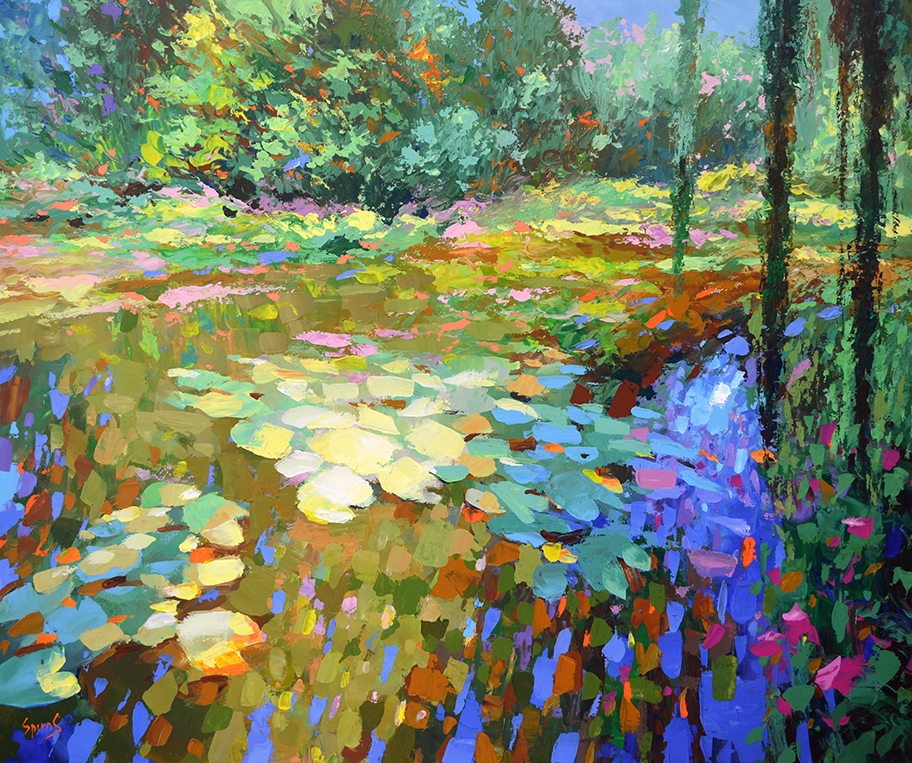contemporary impressionist - midway water lillies