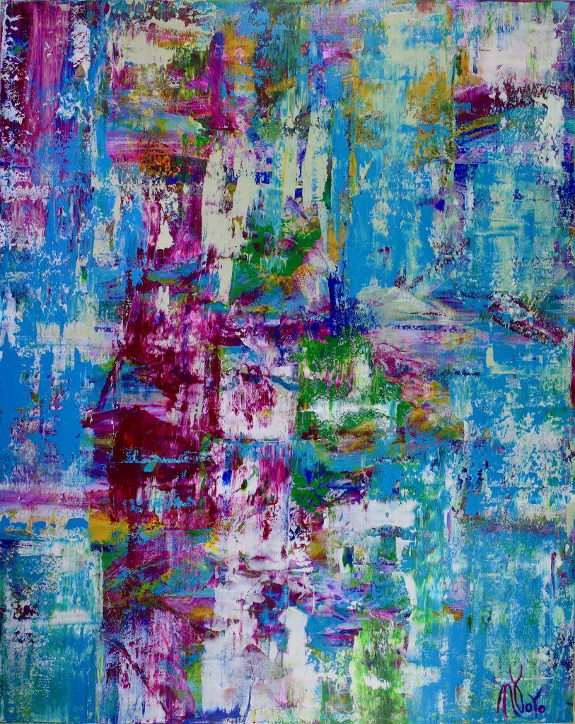 Celeste Spectra (Amethysts Reflections) - abstract expressionist painter