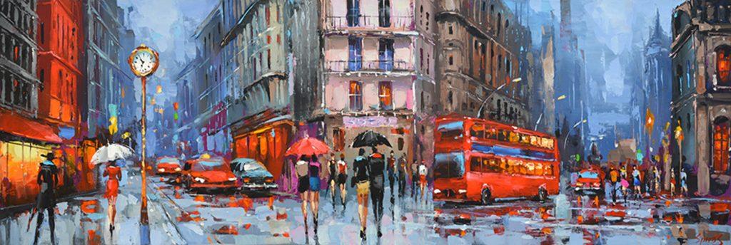 Contemporary Impressionist - Rhythm of the city evening