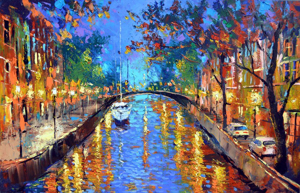 Contemporary Impressionist - Romantic Evening