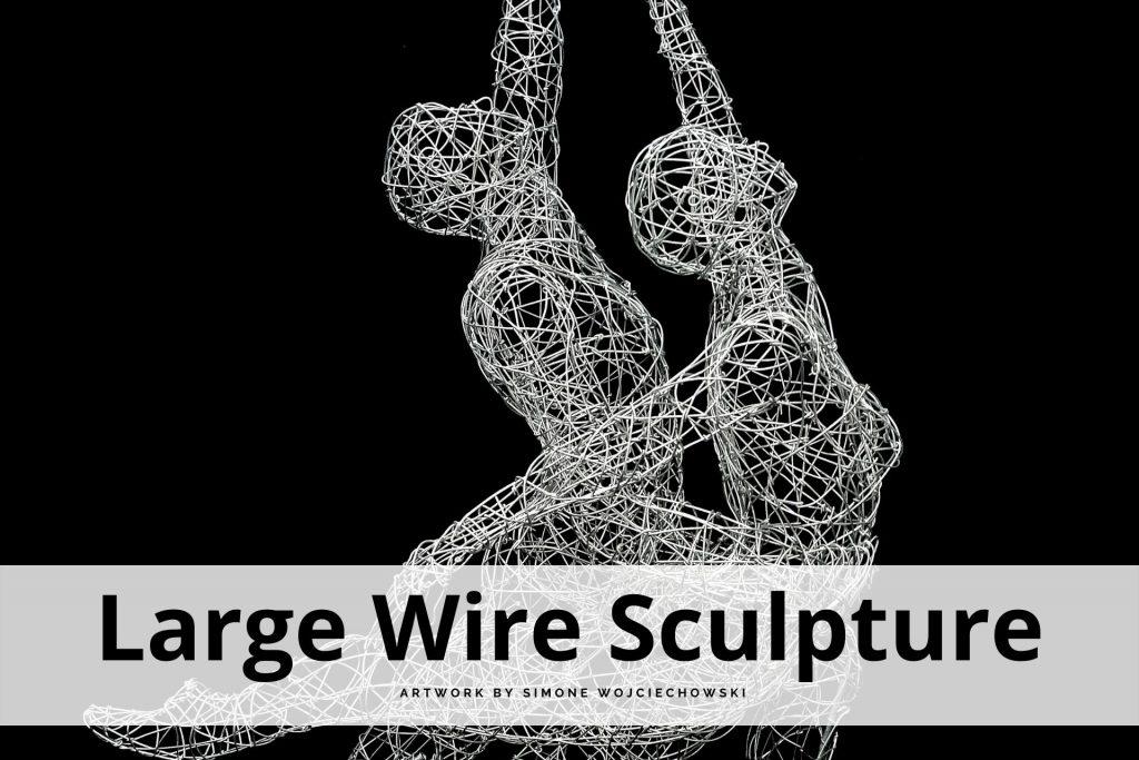 large wire sculpture by Simone Wojciechowski