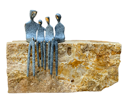 "Bronze: family sculpture 10"""