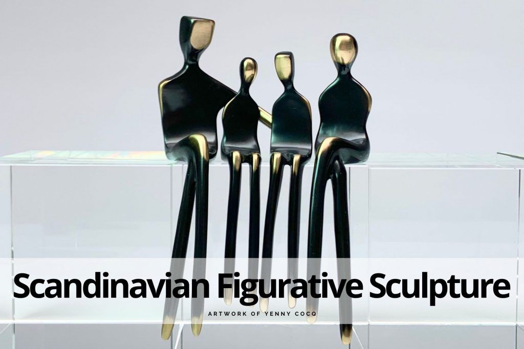 Scandinavian figurative sculpture Yenny Cocq